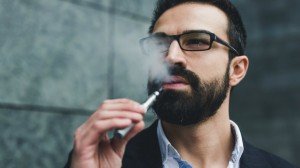 Showing of politeness while smoking an E-Cigarette